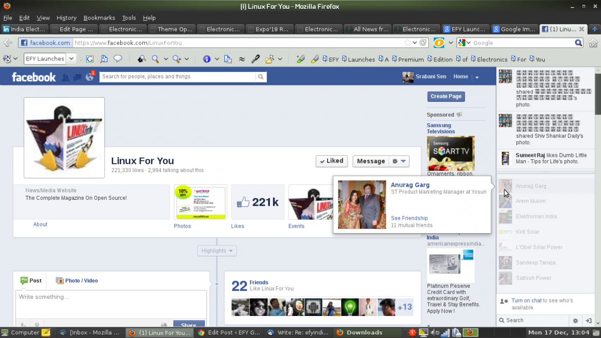 Linux for You's Facebook Page Crosses 2,00,000 'Likes' - EFY Group